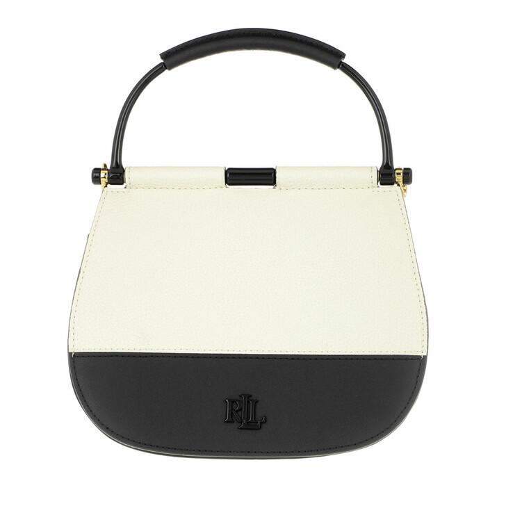 bags, Lauren Ralph Lauren, Mason 20 Satchel Mini Vanilla/Black