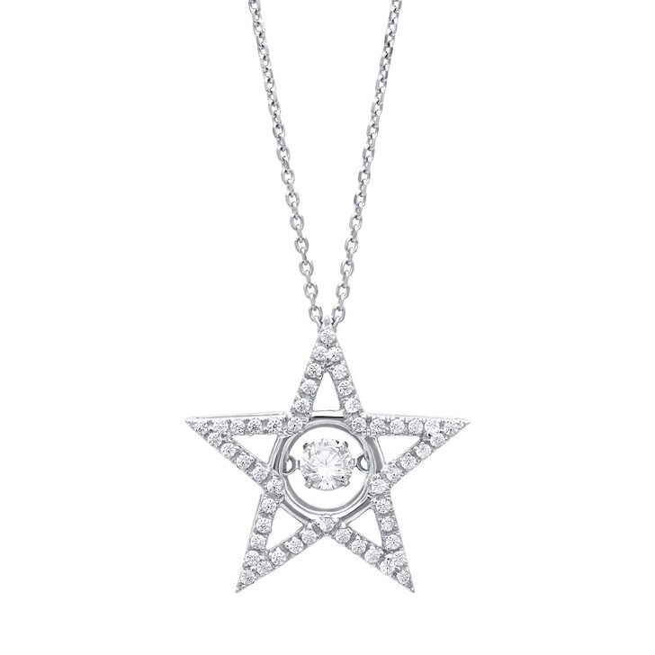 Kette, Julie Julsen, Dancing Stone Star Necklace Silver