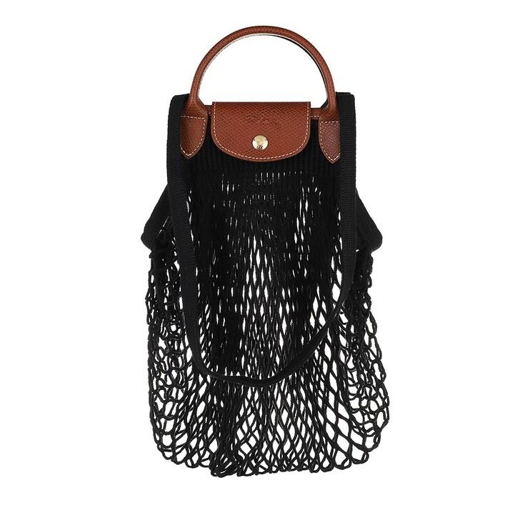 bags, Longchamp, Le Pliage Filet Shoulder Bag Black