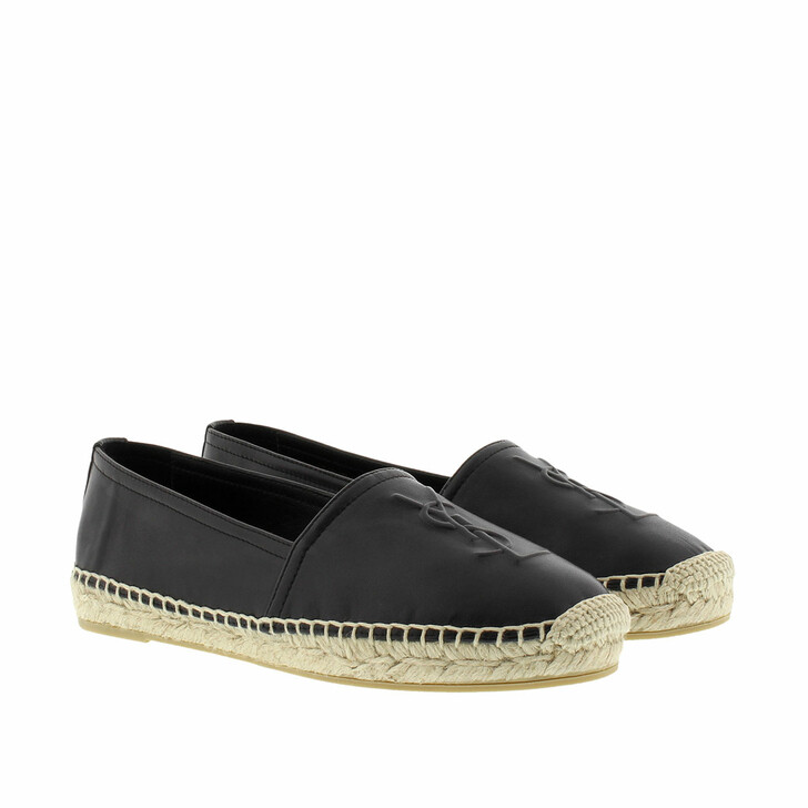 Schuh, Saint Laurent, YSL Monogramme Espadrilles Leather Black