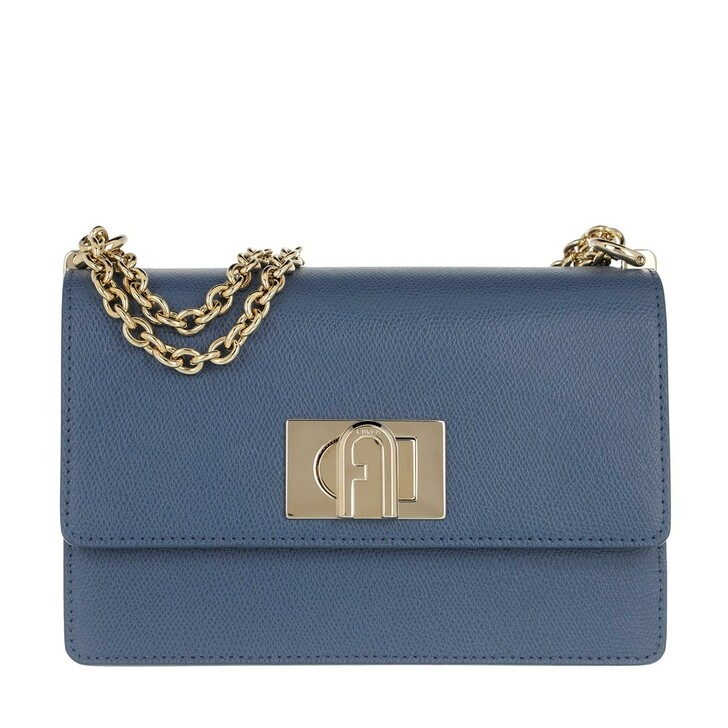 Handtasche, Furla, 1927 Mini Crossbody 20 Blu Denim