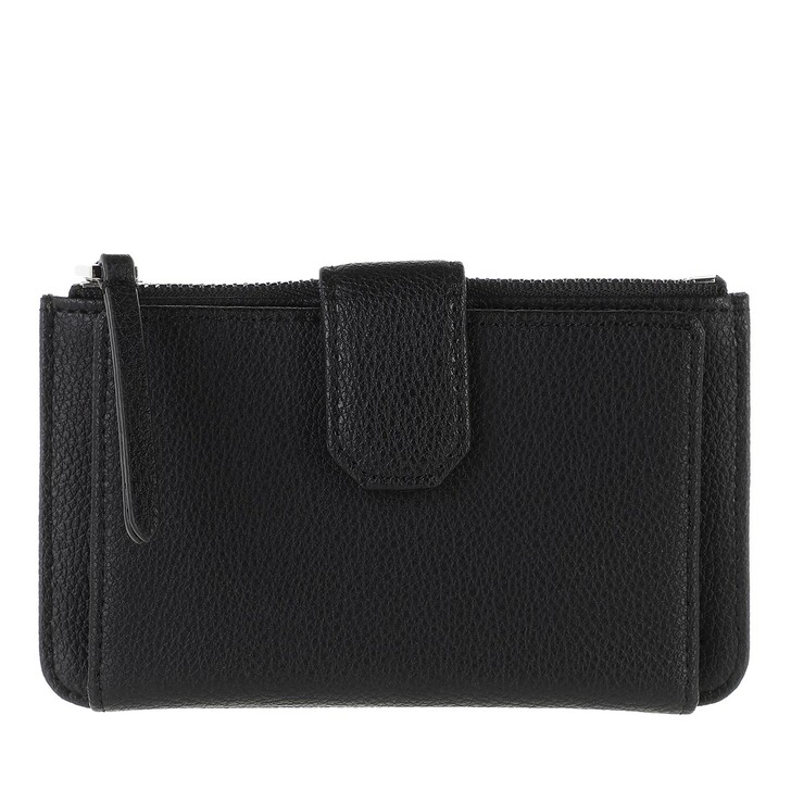 Geldbörse, Karl Lagerfeld, Rue St Guillaume Zip Card Holder Black