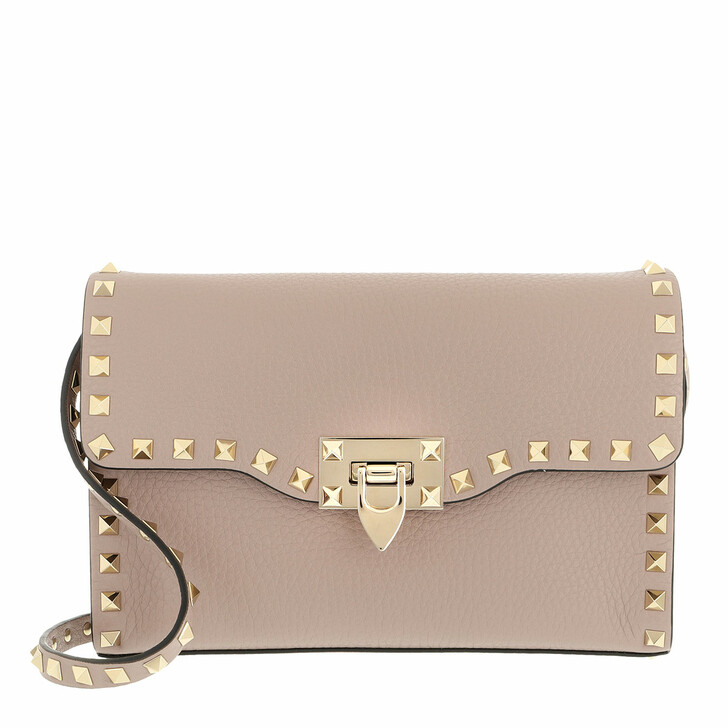 bags, Valentino Garavani, Rockstud Small Crossbody Bag Pastel Poudre