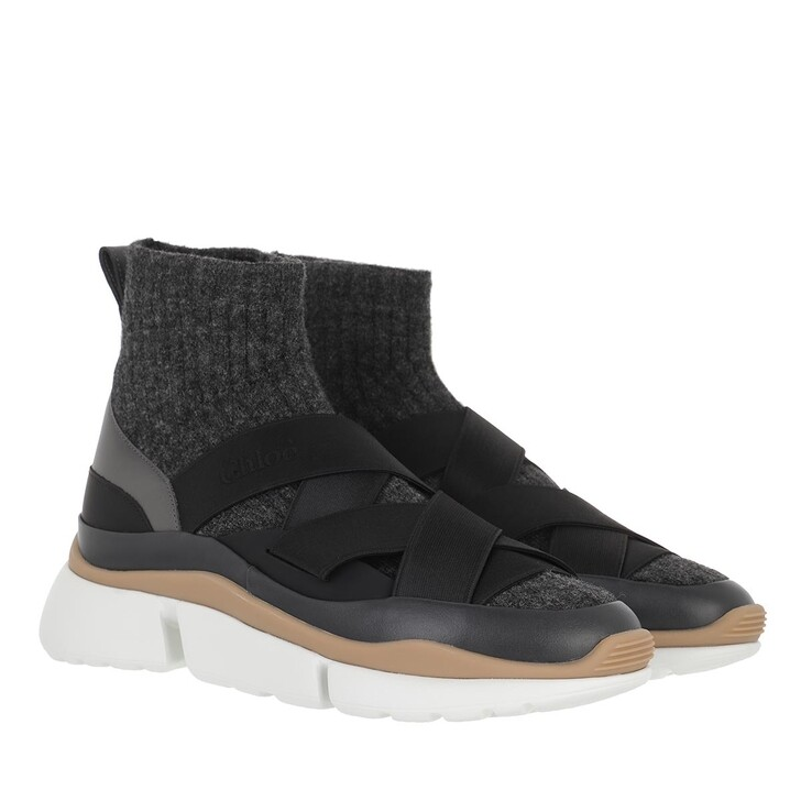 shoes, Chloé, Sonnie Sock Sneakers Black