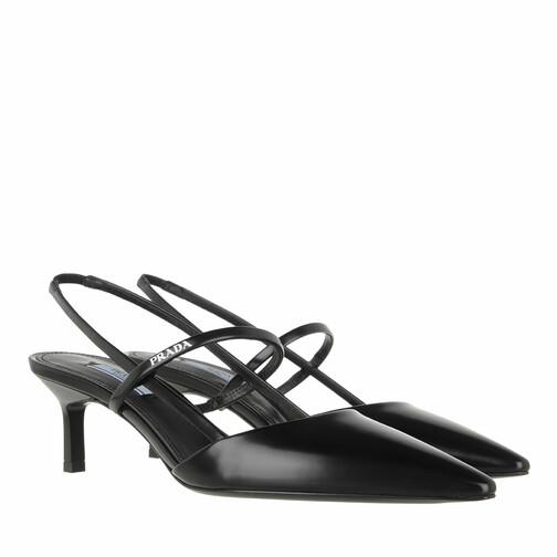 prada -  Pumps & High Heels - High Slingbacks Brushed Leather - in schwarz - für Damen