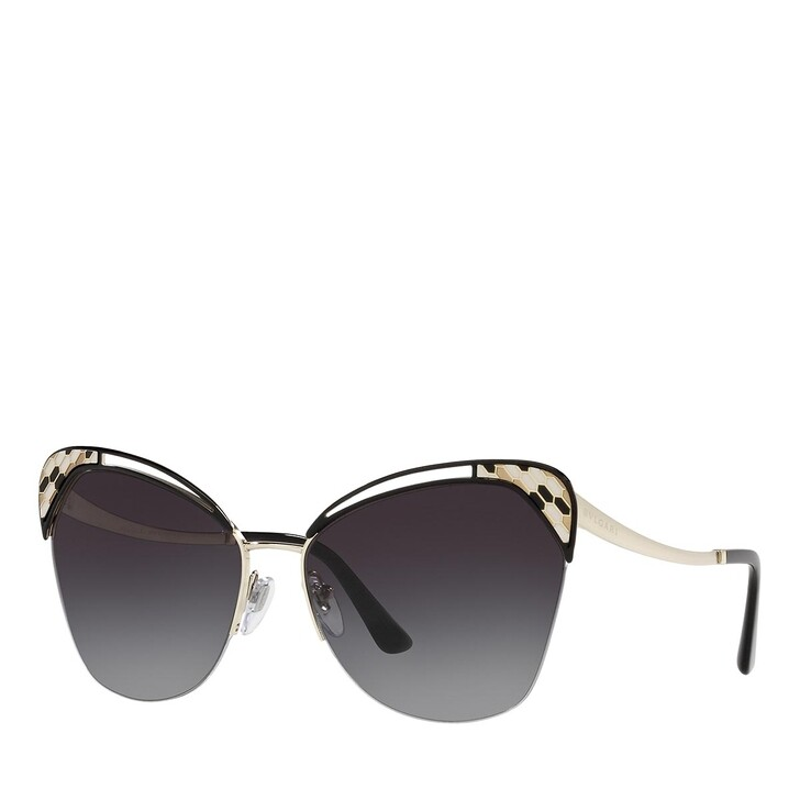 Sonnenbrille, BVLGARI, 0BV6161 PALE GOLD/BLACK