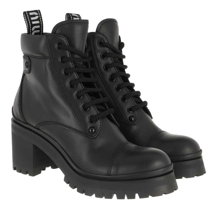 Schuh, Miu Miu, Booties Leather Nero