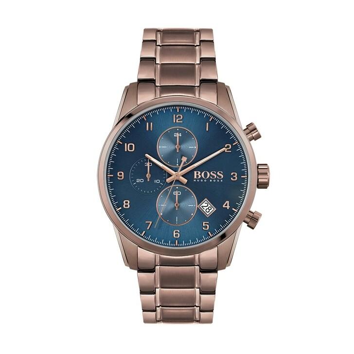watches, Boss, Men Chronograph Skymaster Brown