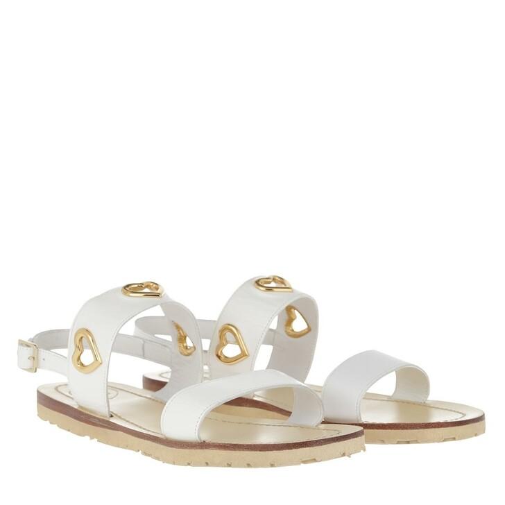 Schuh, Love Moschino, Sandal Vitello Bianco