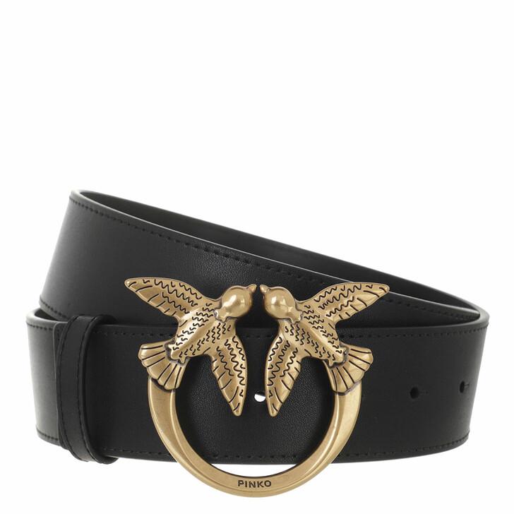 belts, Pinko, Love Berry Hips Simply Belt H4 Nero Limousine