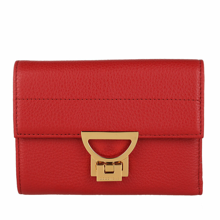 Geldbörse, Coccinelle, Wallet Grainy Leather Ruby