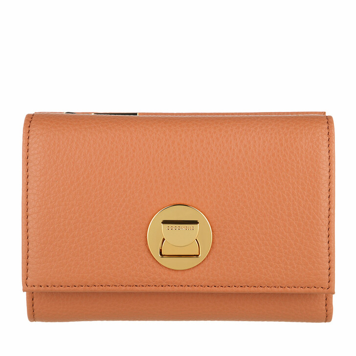 wallets, Coccinelle, Wallet Grainy Leather  Chestnut
