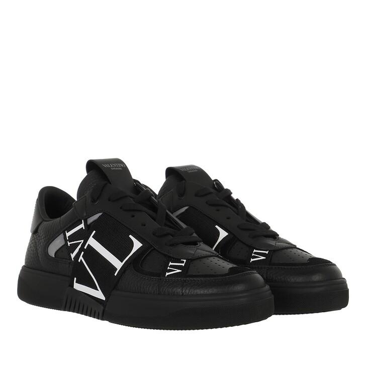 shoes, Valentino Garavani, VLTN Low Top Sneakers Calf Leather Black