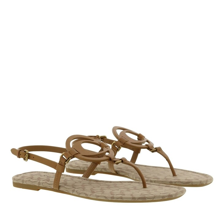 Schuh, Coach, Jeri Ltr-Sig Sandal Light Saddle/Stone