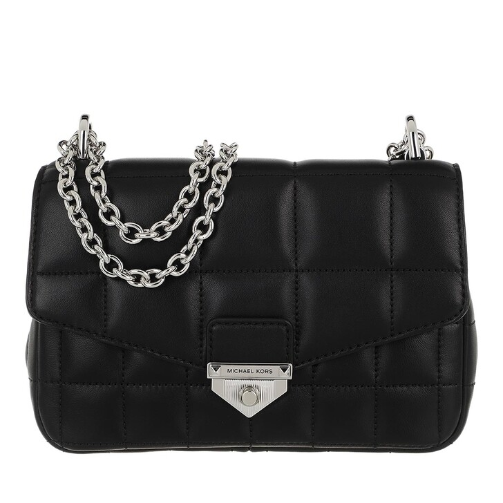Handtasche, MICHAEL Michael Kors, Soho Small Chain Shoulder Handbag  Leather Black