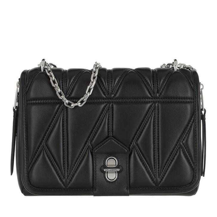 Handtasche, Karl Lagerfeld, Studio Zip Shoulderbag Black