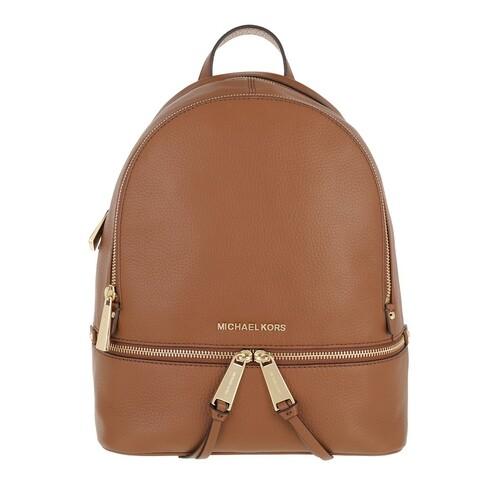 michael kors -  Rucksack - Rhea Zip MD Backpack Luggage - in cognac - für Damen
