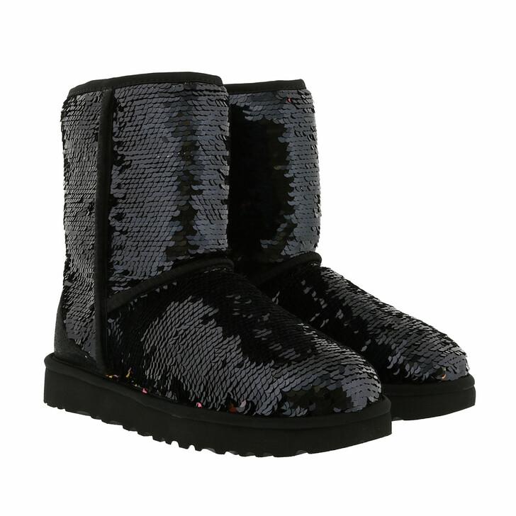 Schuh, UGG, W Classic Short Sequin Black
