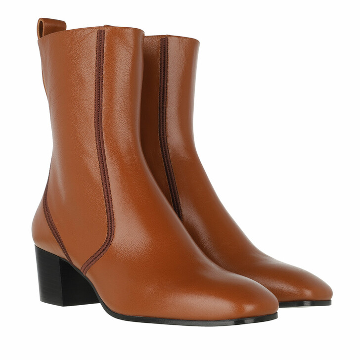 Schuh, Chloé, Goldee Boots Leather Smooth Brown