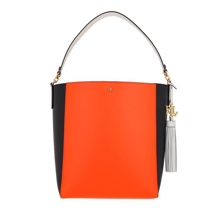 bags, Lauren Ralph Lauren, Adley 25 Shoulder Medium Nautical Orange/Lauren Navy/Snow White