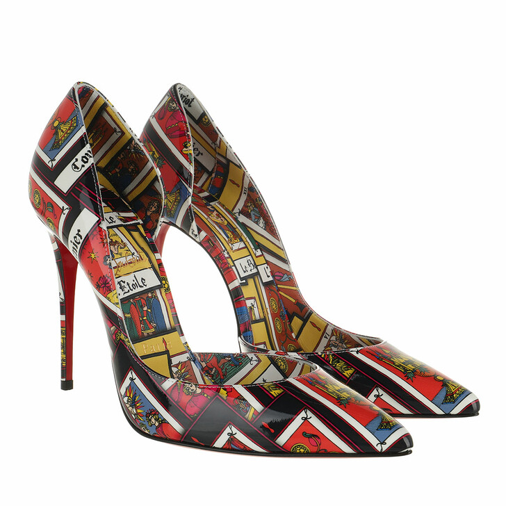 shoes, Christian Louboutin, Irizia Tarot Pumps Patent Leather Multi