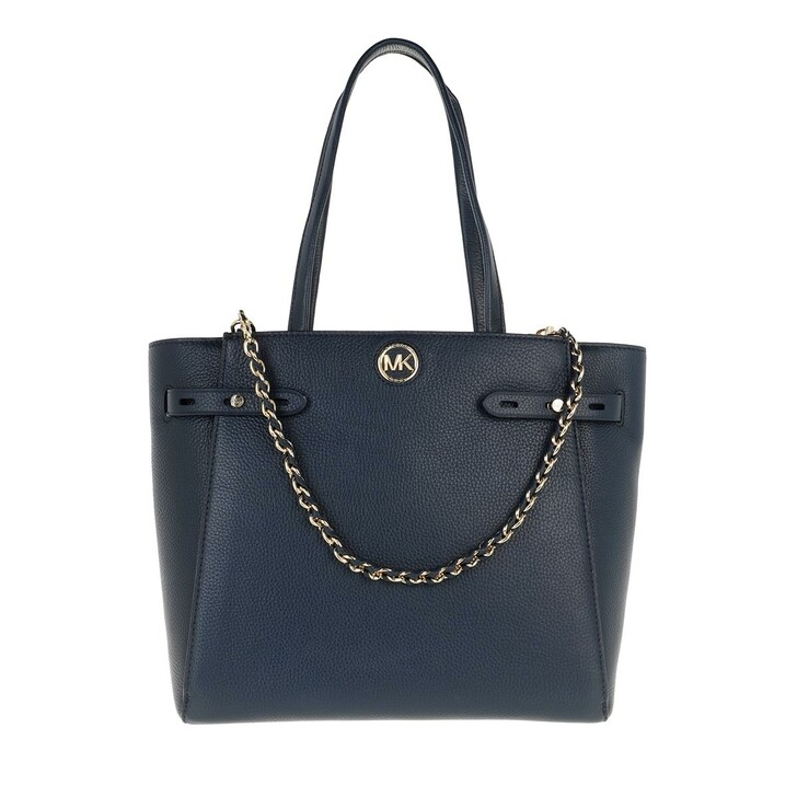 Handtasche, MICHAEL Michael Kors, Large Belted Tote  Leather Navy