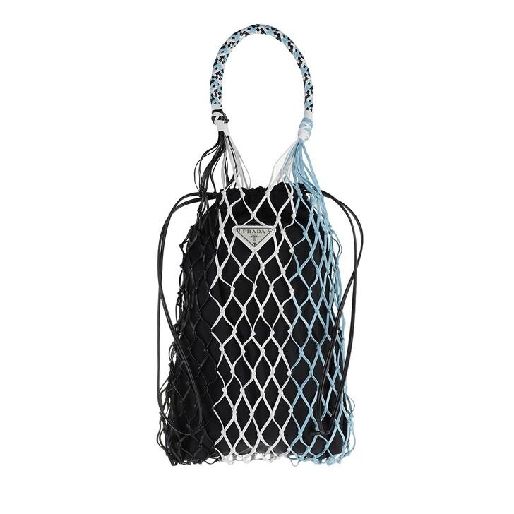 Handtasche, Prada, Net Tote Bag Nero/Cielo