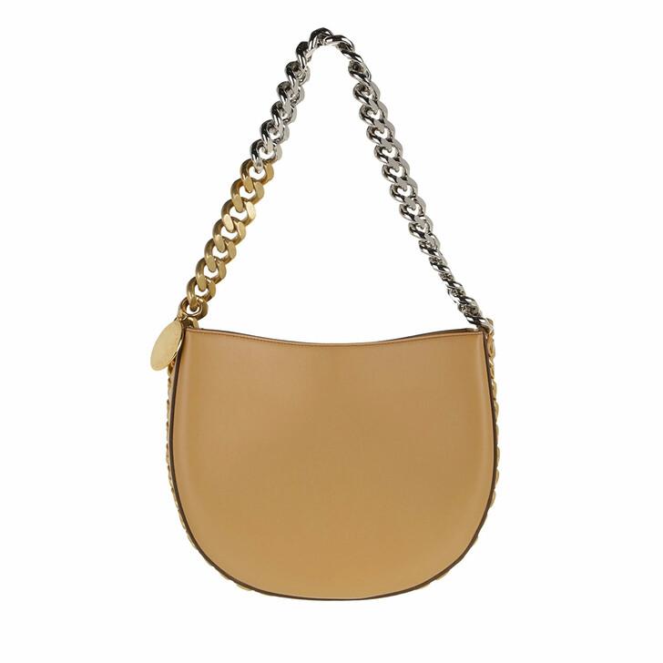 bags, Stella McCartney, Medium Frayme Shoulder Bag Sand