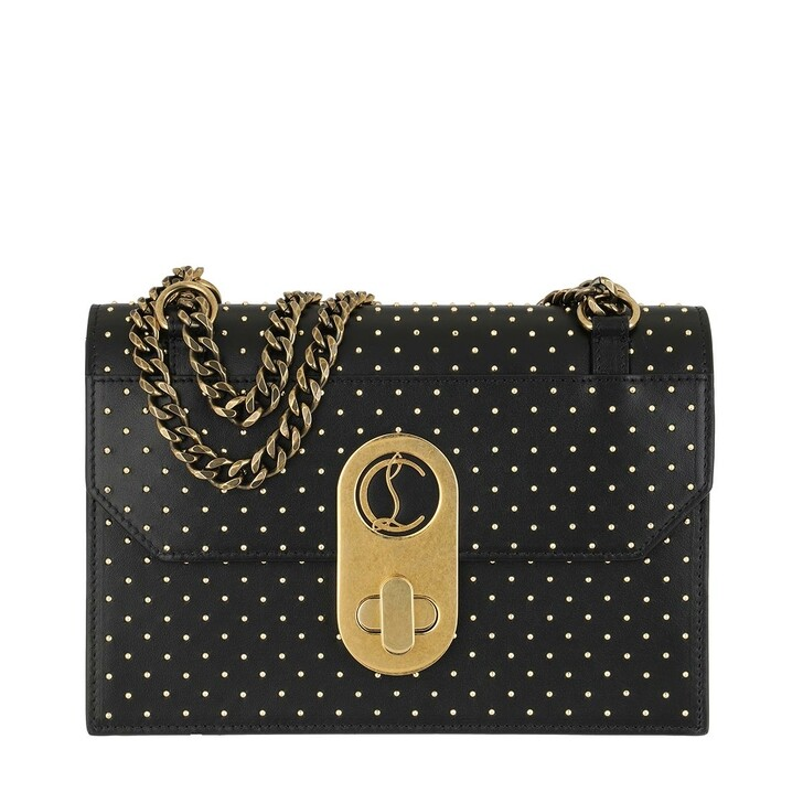 Handtasche, Christian Louboutin, Elisa Small Crossbody Bag Leather Black Gold