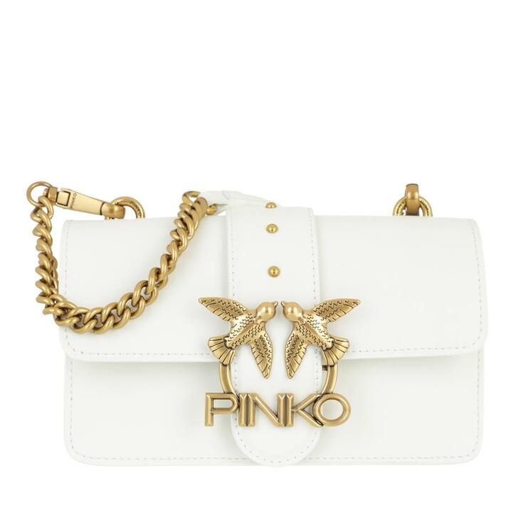 bags, Pinko, Love Mini Icon Simply 11 Cl Vi Bianco  Bianco