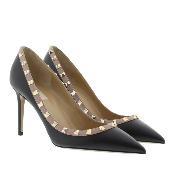 Schuh, Valentino, Rockstud Pump Nero/Poudre