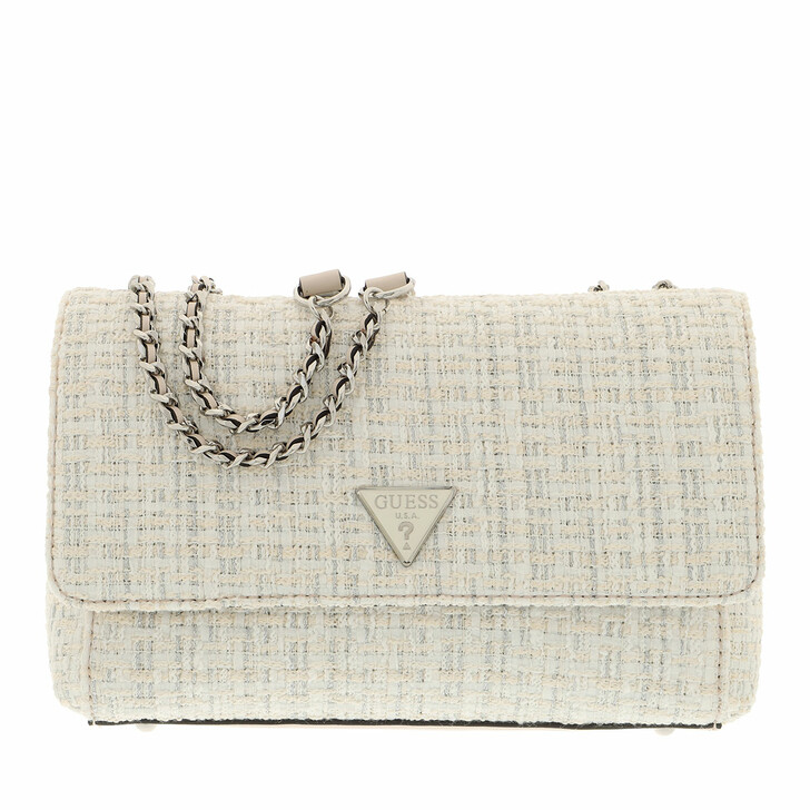 bags, Guess, Cessily Convertible Xbody Flap White Multi