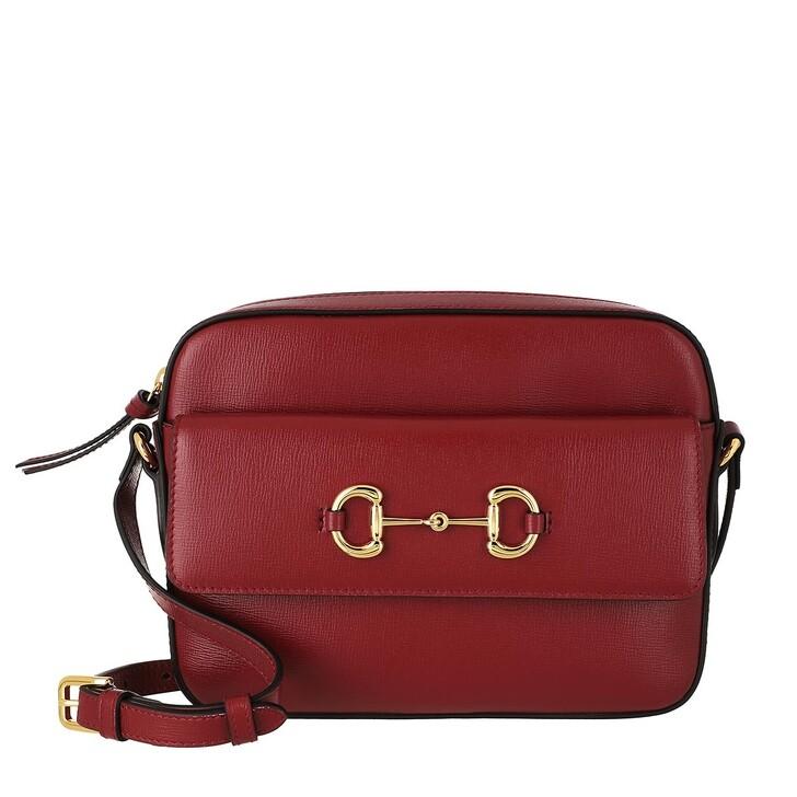Handtasche, Gucci, Horsebit 1955 Small Shoulder Bag Leather New Cherry Red