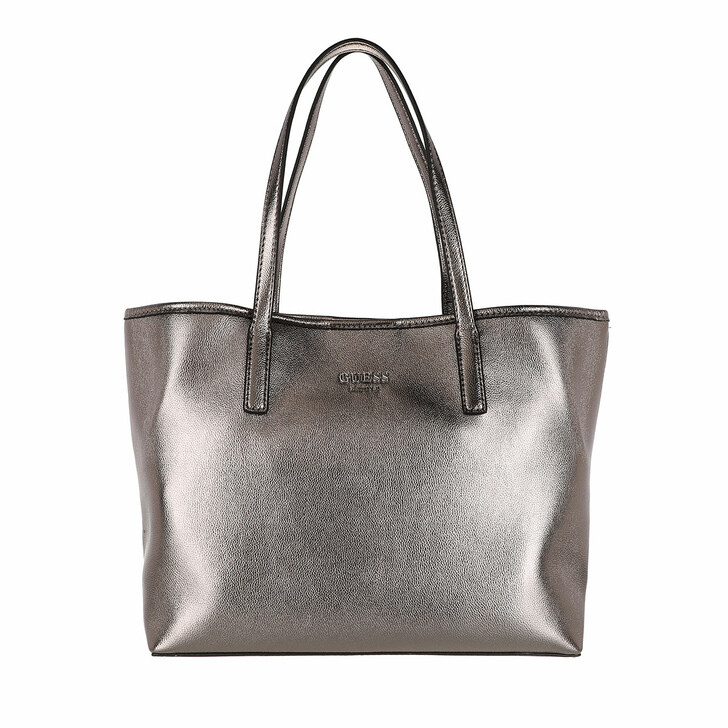 bags, Guess, Vikky Tote Pewter