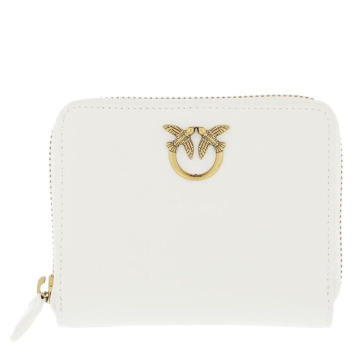 Geldbörse, Pinko, Taylor Wallet Zip Around M 2 S White