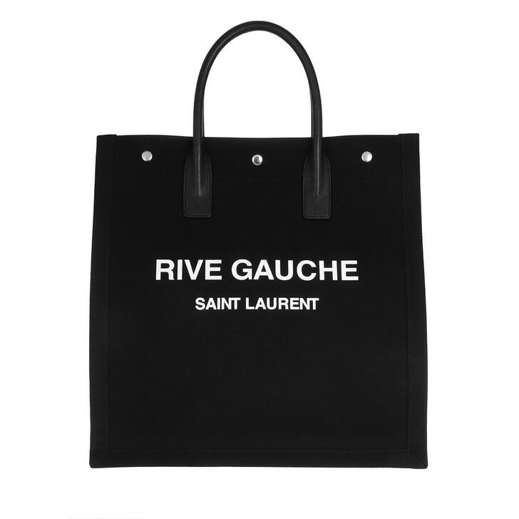 Handtasche, Saint Laurent, Rive Gauche Tote Bag Black/White