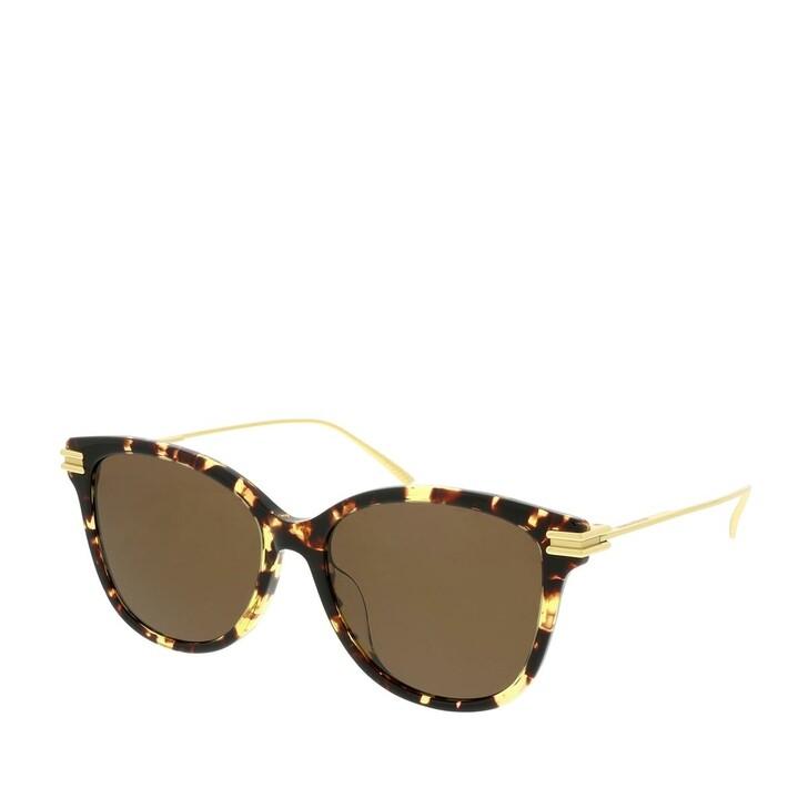Sonnenbrille, Bottega Veneta, BV1048SA-002 55 Sunglasses Havana-Gold-Brown