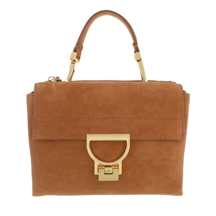 Handtasche, Coccinelle, Arlettis Suede Tote Bag Caramel