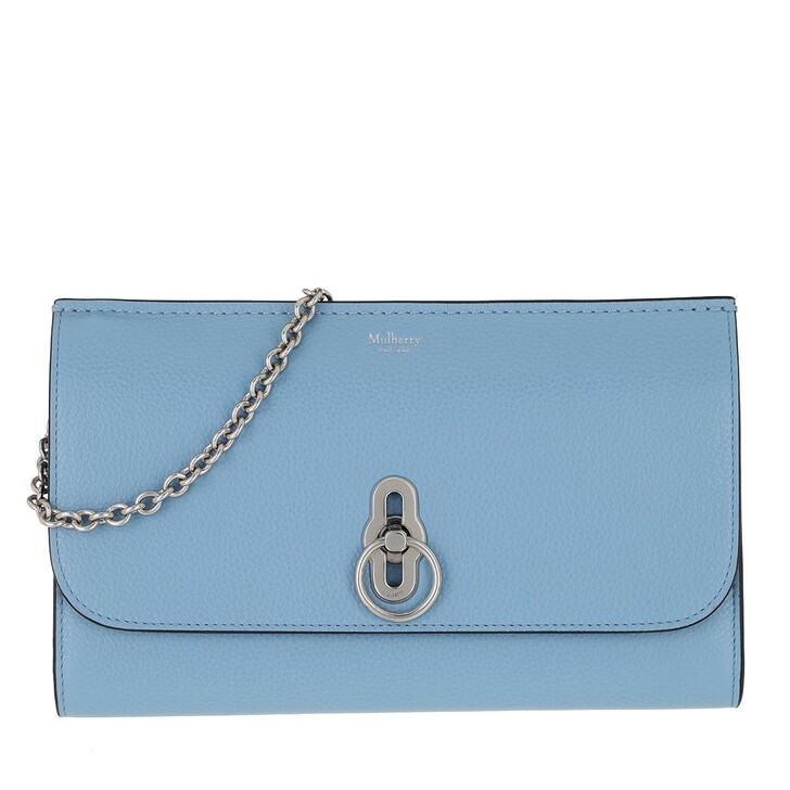 Handtasche, Mulberry, Amberley Clutch Leather Blue