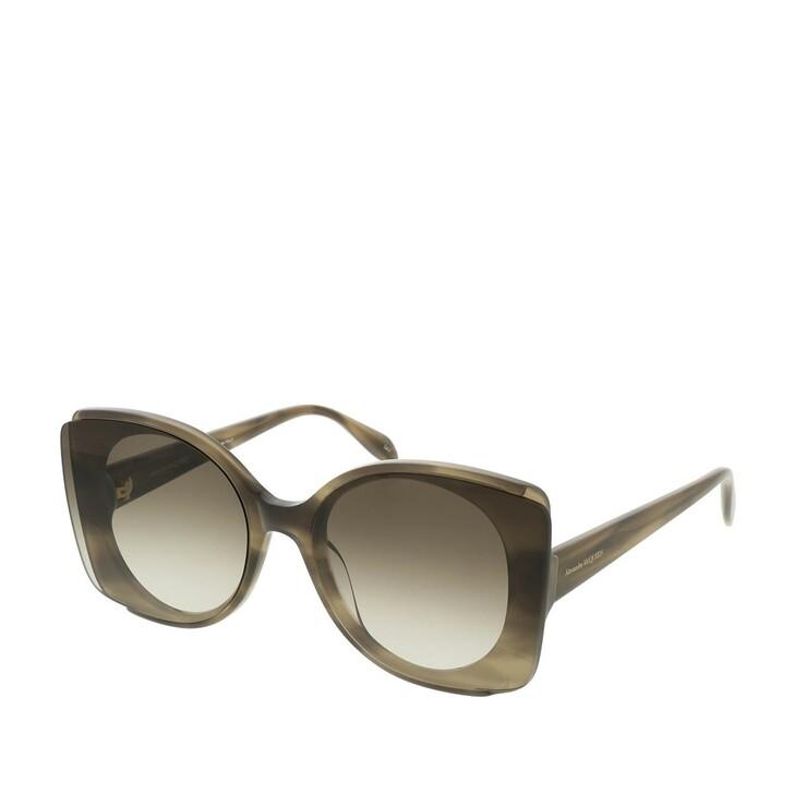 Sonnenbrille, Alexander McQueen, AM0250S-004 65 Sunglasses Havana-Brown