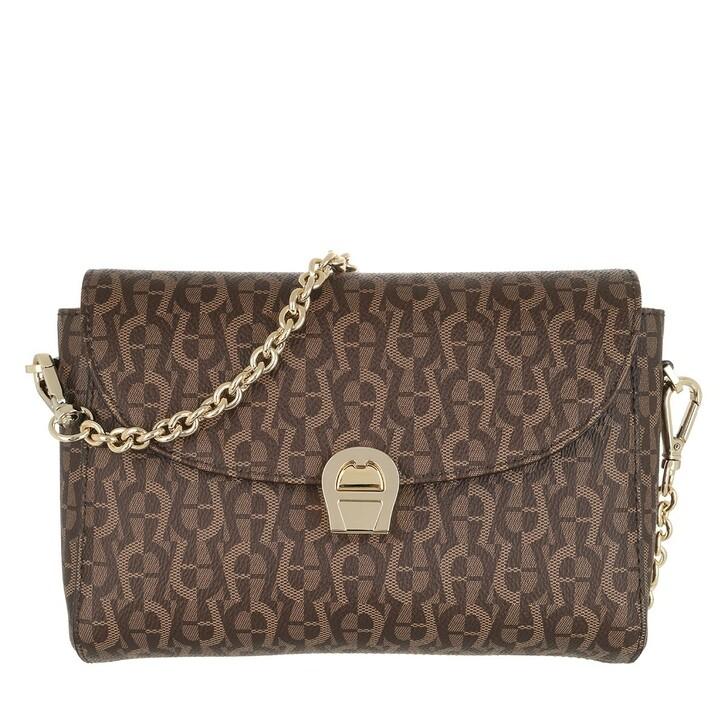 Handtasche, AIGNER, Zoe Crossbody Bag Fango