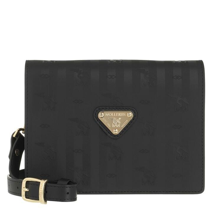 bags, Maison Mollerus, Crossover Small Black Gold