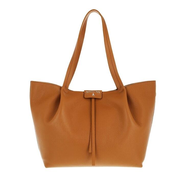 bags, Patrizia Pepe, Shopping Bag Cuoio