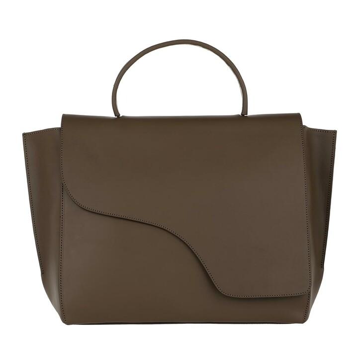 Handtasche, ATP Atelier, Large Tote Khaki Brown