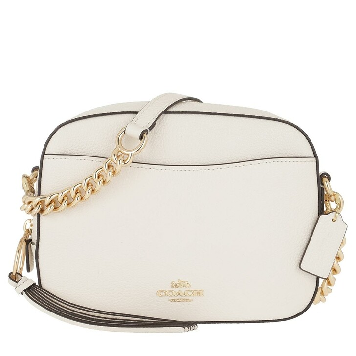 Handtasche, Coach, Polished Pebble Leather Camera Bag Li/Chalk
