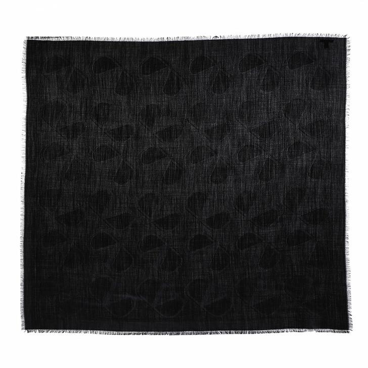 scarves, Valentino Garavani, V Logo Scarf Black