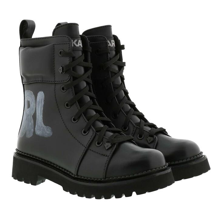 Schuh, Karl Lagerfeld, Kadet II Hi Lace Boot Black Leather