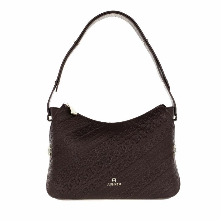 bags, AIGNER, Catena Mini Bag Espresso Brown
