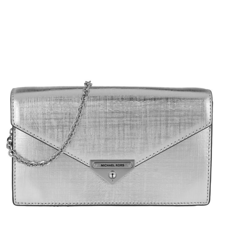 Handtasche, MICHAEL Michael Kors, Grace MD Envelope Clutch Silver