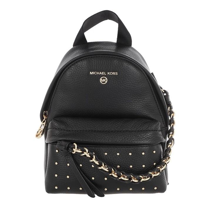 Reisetasche, MICHAEL Michael Kors, Small Canvas Messenger Backpack Black